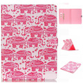 Quality Tablet Accessories Collections Elephant PU Leather Flip Pink Case for iPad Case Stand Cover Case With Card Holder