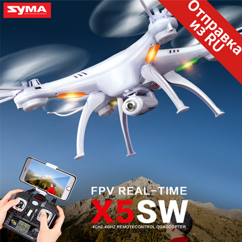 0.3MP Camera HD RC Quadcopter Syma X5SW RC Quadcopter Drone WIFI FPV 2.4Ghz 4CH 6-Axis RC Remote-control Image Transmission new arrival syma x8hg wifi fpv 3d rolling dron rc 2 4g remote control 6 axis rc drone hd camera rc quadcopter with led light
