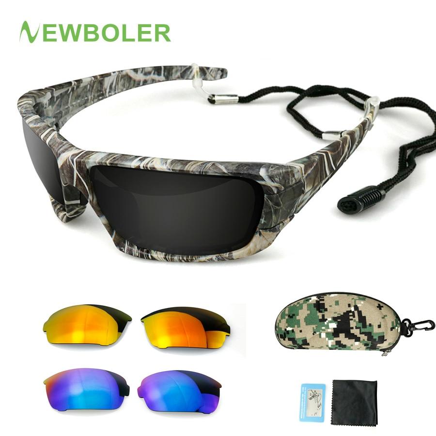 NEWBOLER Polarized Sunglasses Camouflage Frame Sport Sun Glasses Fishing Eyeglasses Oculos De Sol Masculino