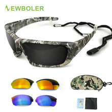 NEWBOLER – lunettes De soleil polarisées, monture De Camouflage, Sport, pêche, Oculos De Sol Masculino