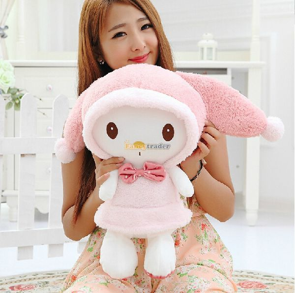 ФОТО Fancytrader Hot Item! 24'' / 60cm Stuffed Giant Plush Pink My Melody Rabbit Toy, Great Gift For Girl, Free Shipping FT50414