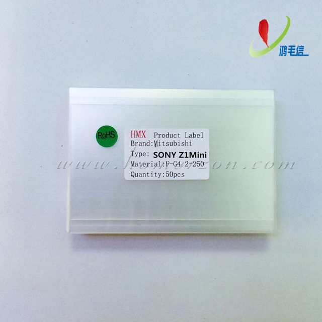 Mitsu 50 unids 250um OCA película Optical Adhesive Clear para Sony Xperia Z1 compacto Mini etiqueta engomada lateral doble LCD / digitalizador cristal