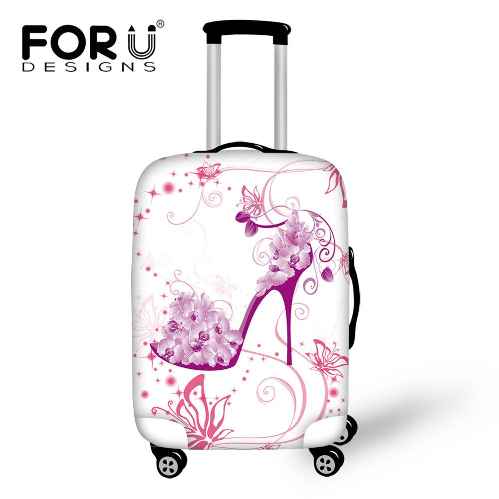 Cute 3D Heart Design Pattern Luggage Protector Travel Luggage Cover Trolley Case Protective Cover Fits 18-32 Inch