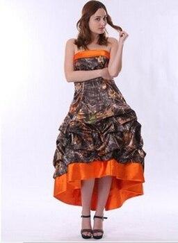 tea length camo bridesmaid dresses 2019 camouflage party  dress custom make size 0 free shipping