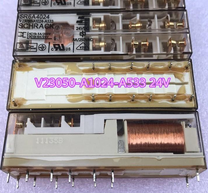 Protective relay SR6A4024 V23050-A1024-A533 SR6A4024-V23050-A1024-A533 SR6A4024 V23050A1024A533 24VDC DC24V 24V 8A 250VAC 14PIN 24v relay sf4d dc24v sf4 dc24v sf4ddc24v dc24v 24v 24vdc 6a 250vac 14pin