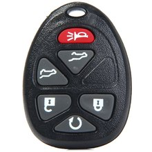 Vehicle 6 Buttons Entry Key Remote Fob Shell Cover Case for Chevrolet Cadillac Replacement for Broken Buttons / Worn Key Blade
