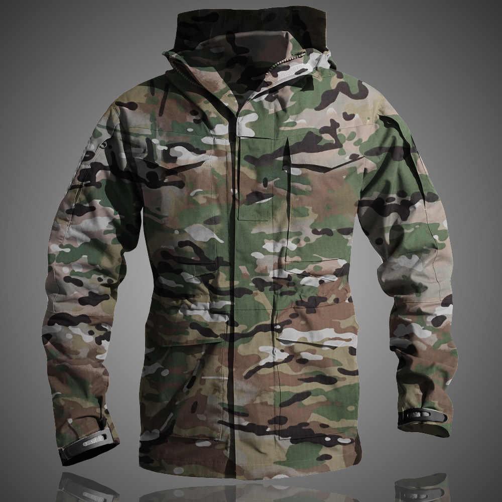 M65 UK US ejército ropa Casual táctico rompevientos hombres invierno impermeable vuelo piloto Abrigo con capucha militar camuflaje chaqueta