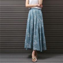 Style japonais Coton Buste Jupe Pour Les Femmes D'été Mori Fille Fleur Imprimé Cheville Longueur Jupe(China (Mainland))