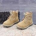 Ботинки «Мартенс» из натуральной кожи для мальчиков  зимняя детская обувь на Плоском Каблуке  детские зимние ботинки  обувь на платформе дл...