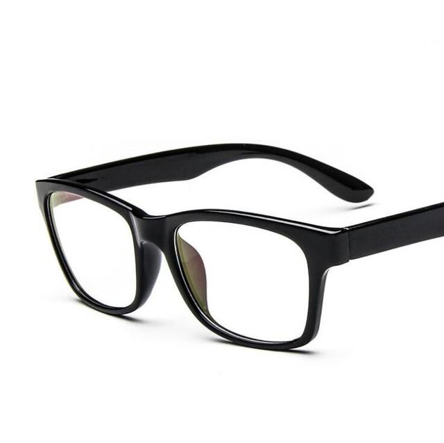 eec55e5323274 Nerd del ordenador ojo gafas marcos hombres anteojos marco óptico lente  transparente Oculos De Grau Masculino