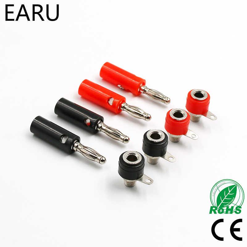 1 Set Pria dan Wanita J072 4 Mm Banana Plug Pria dan Wanita untuk Memasukkan Konektor Pisang Pin DIY Model suku Cadang Gratis Pengiriman