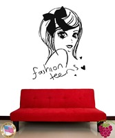 Wall Stickers Vinyl Decal Fashion Teens Cute Girl Decor For Bedroom