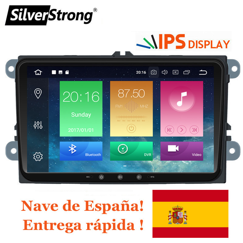 SilverStrong IPS Android9.0-8.0 for VW 2Din Car Radio for Passat B6 B7 for Golf5-6 for Skoda Octavia2 for superb for fabia 901SilverStrong IPS Android9.0-8.0 for VW 2Din Car Radio for Passat B6 B7 for Golf5-6 for Skoda Octavia2 for superb for fabia 901