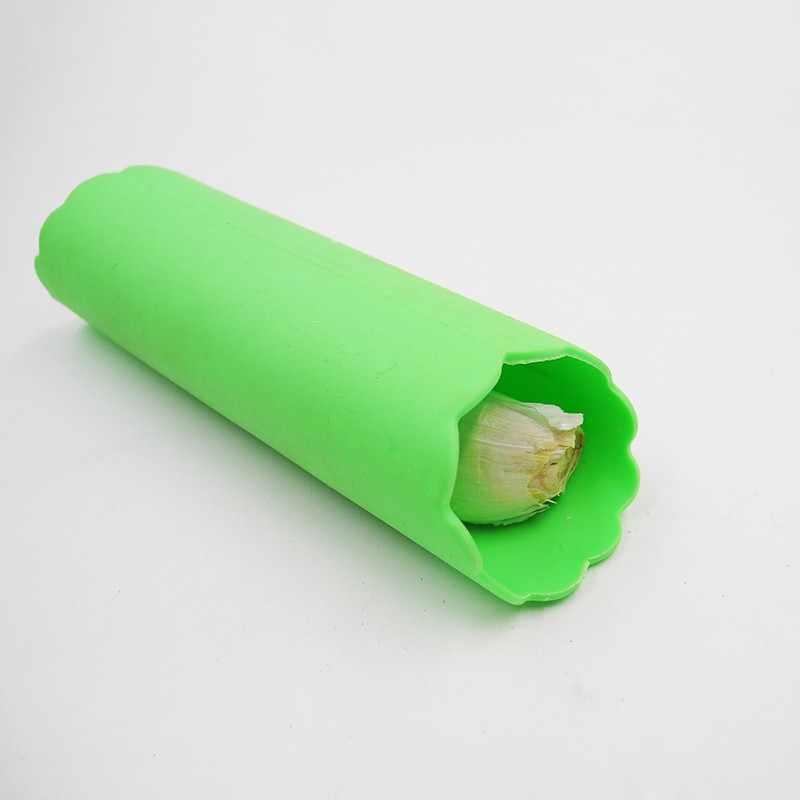 Utilitário Prático Utensílio de Cozinha Descascador de Alho Silicone Descascador de Alho Tubo Alho Descamação Peeling
