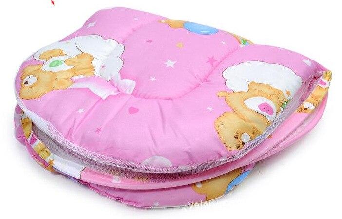 Детские Москитная сетка с коврик подушка детская кровать сетей портативный складной кровати сетки детей сеток