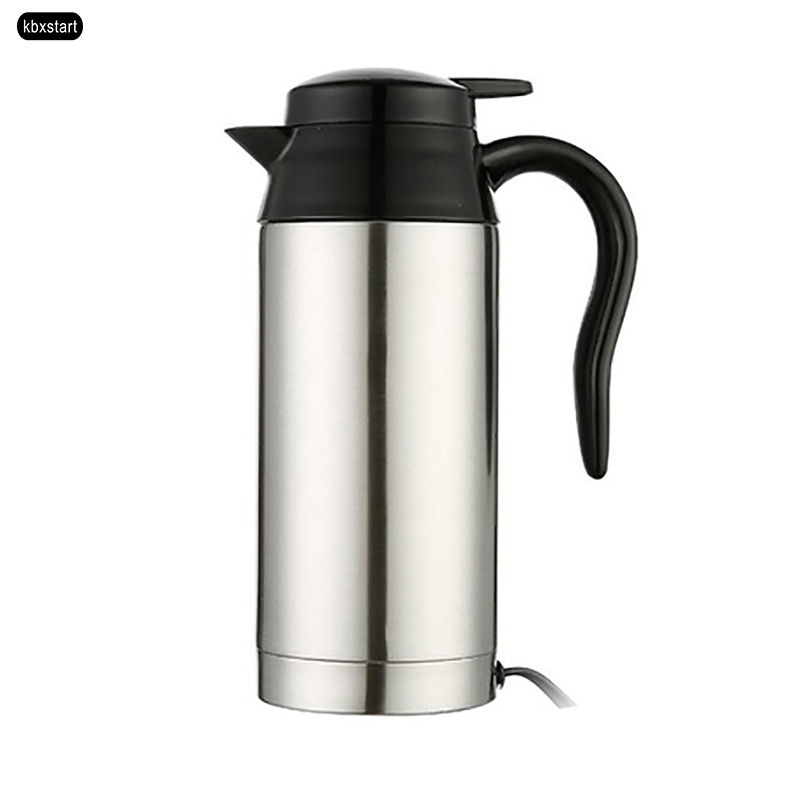12v 24v Electric Kettle 750ml Car Heating Cup Travel Hot Water Bottle Automobile Truck