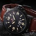 2016 nuevos relojes de los hombres naviforce marca hombres reloj de cuarzo correa de cuero causales deportes reloj militar reloj relogio masculino