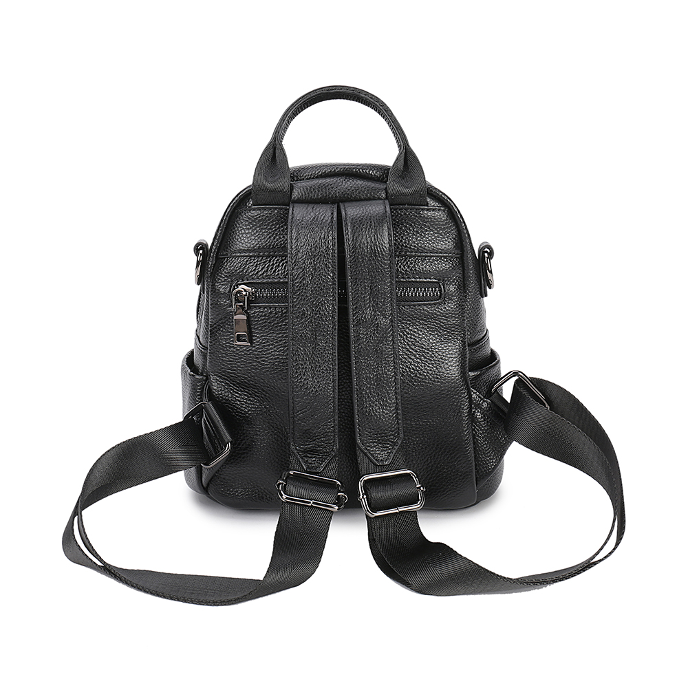 ZKW New Arrival Women Backpack Cow Leather Girl Designer Casual Genuine Leather Laptop Bags Solid Female Trave Bag in Backpacks from Luggage Bags