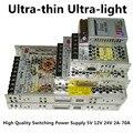 LED 12 В 24 В до 2А, 4А, 8А, 10А, 14А 16A 20A 29A питания трансформатор Полосы света адаптер Импульсный Источник Питания питания