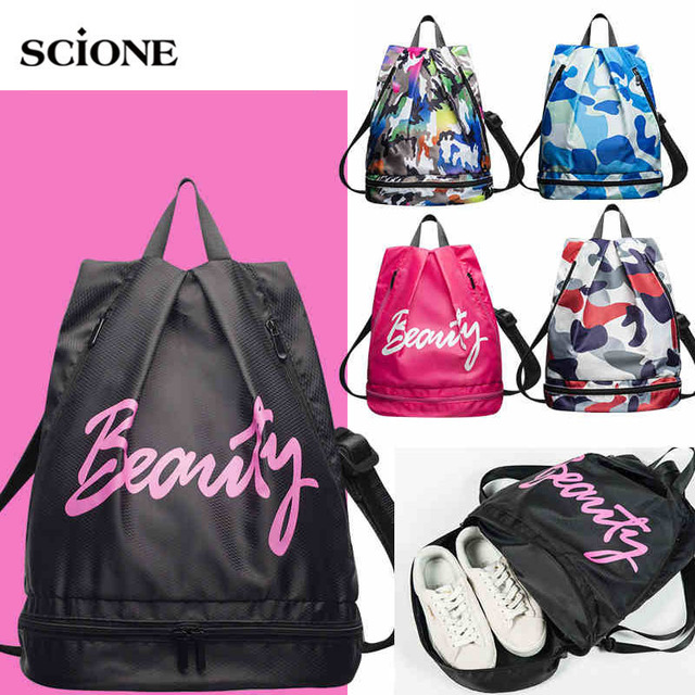 bff20be5931f Waterproof Swimming Backpack Dry Wet Bag Camping Backpacks Sports Bags  Travel Pool Beach Swimsuit Rucksack For
