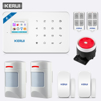 KERUI TFT Color Screen W18 WIFI GSM Arm Alarm System Home Safety Call Push APP Remote Control Wireless Anti pet PIR Sensor Alarm