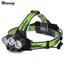 1pc Flashlight Cycling Bike Head Light 25000LM 5X XML T6 LED 18650 USB Headlamp Headlight Head