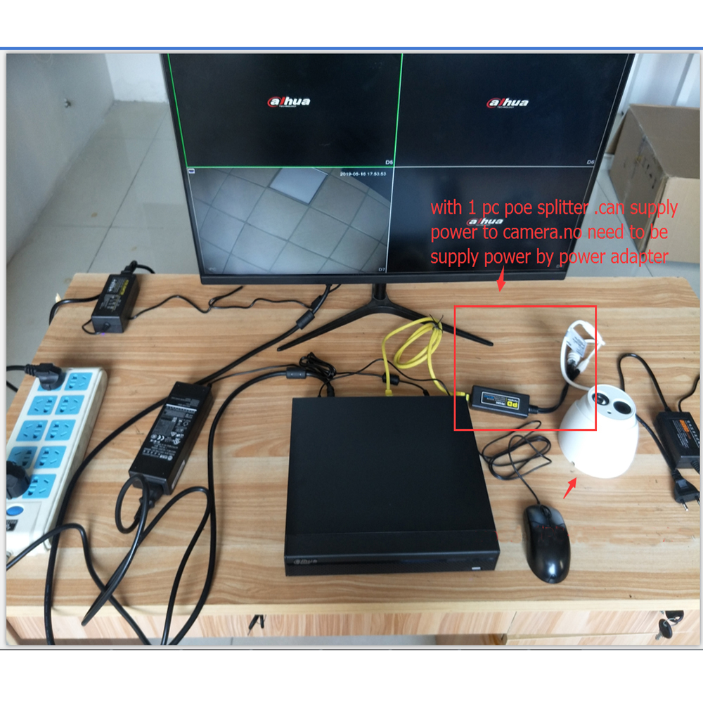 Dahua IP Camera 4MP IPC-HDW4436C-A IR50M H.265/H.264 Full HD Built-in-MIC CCTV Network Camera WDR Mulli-language IVS