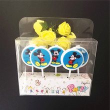 5pcs/lot mickey mouse party decorations Candles Kids Birthday Candles Evening Party Decorations Birthday Wedding Party Candles