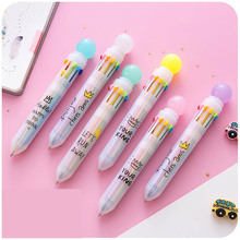 Kawaii Multicolor Ballpoint Pen Multifunction Candy Color Press Ball Pen Creative office&school supplies Pens Korean Stationery недорого