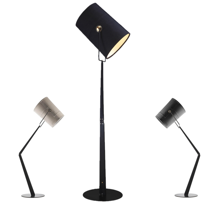 Modern Simple standing lamp with black white lampshade 10W E27 led bulb Bedroom Living Room Floor Reading Lamp new arrival 2017