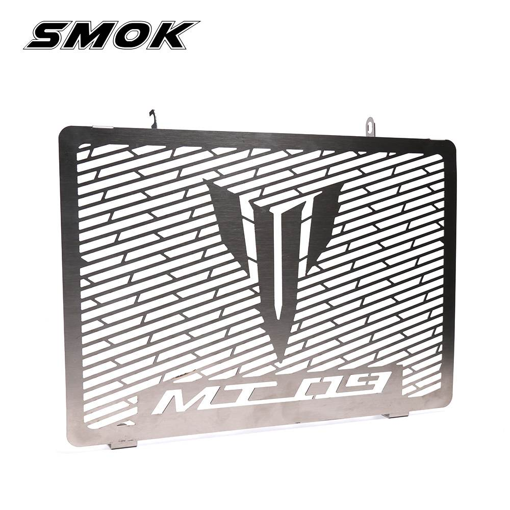 SMOK For Yamaha MT-09 MT 09 MT09 FZ09 FZ 09 2014 2015 2016 2017 Motorcycle Accessories Radiator Grille Guard Cover Protector 2017 new black motorcycle radiator grille guard cover protector for yamaha mt07 mt 07 mt 07 2014 2015 2016 free shipping