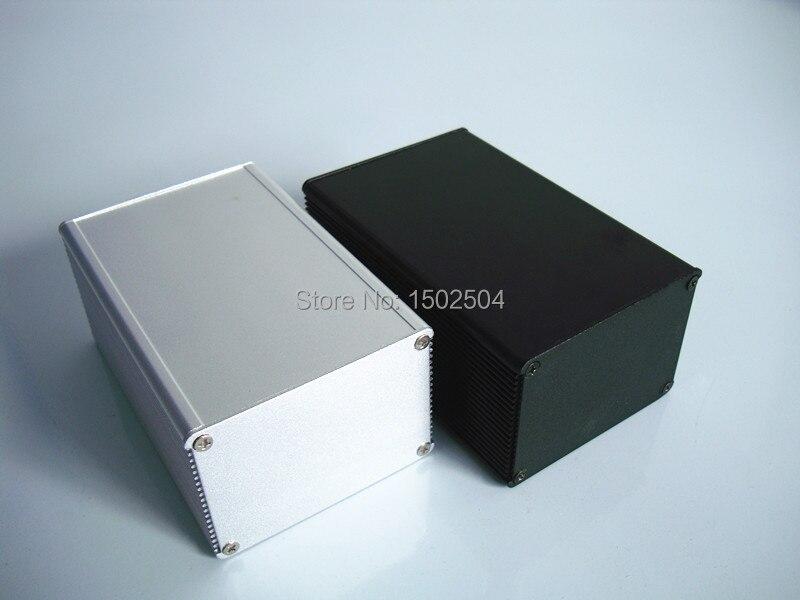 Aluminum Enclosure for PCB POWER shell Electric project box DIY 66*46*100mm NEW кабельный щит no pcb diy 66   46   100 aluminum  box