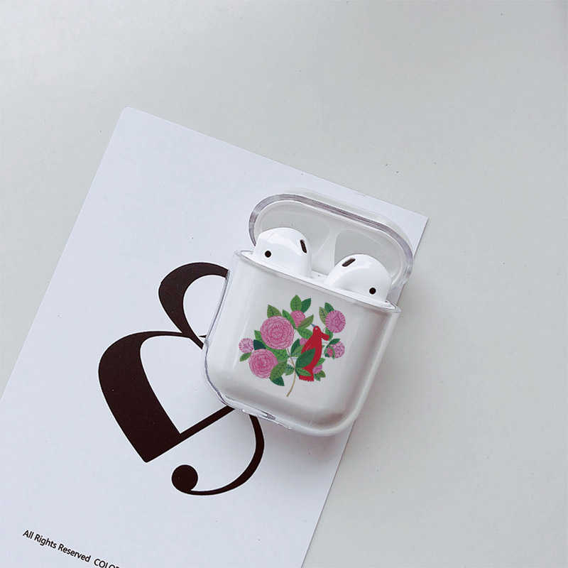 Image 4 - Hard Case For AirPods Case Cute Bluetooth Earphone Cover For Airpods Cartoon Art Flower Transparent Protect Cover-in Earphone Accessories from Consumer Electronics
