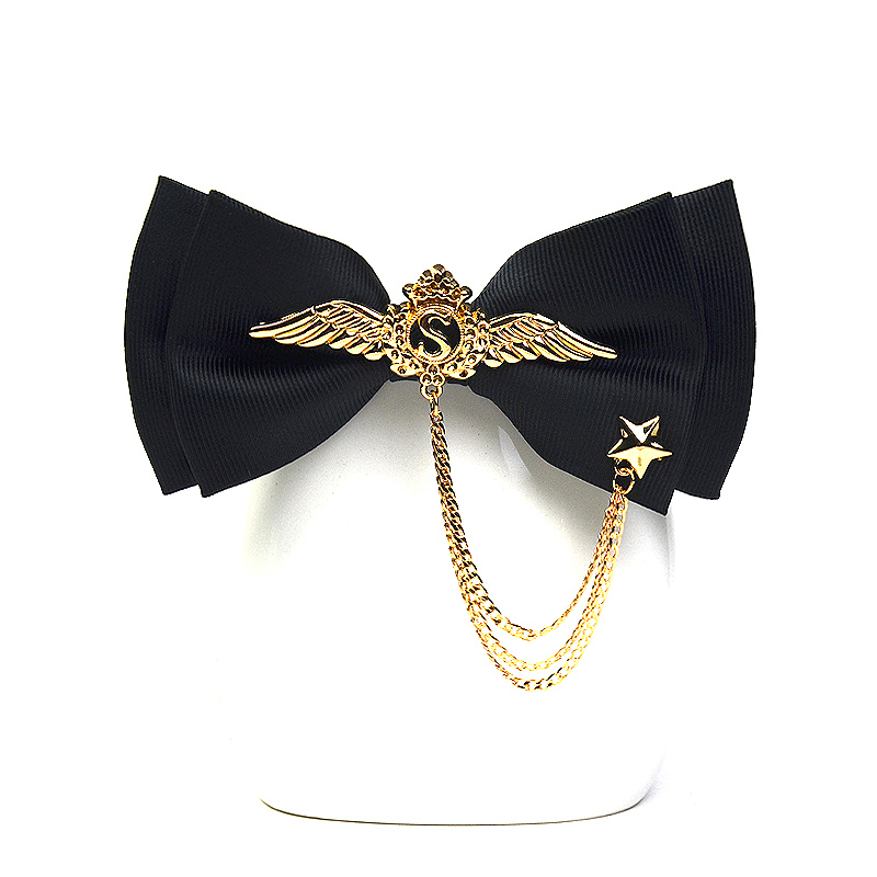 High Quality British Fashion Bowknot Brand Cravat Luxury Metal Wings Five - Point Star Bow Ties For Men Formal Wedding Butterfly
