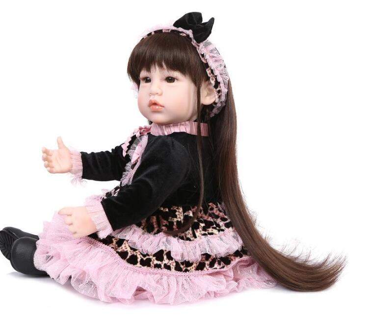 22 inch silicone reborn babies Reborn Baby Doll Girl Newborn Lifelike Realistic Baby Doll Gifts Newborn Baby For Childre 29inch silicone reborn babies realistic newborn baby doll lifesize doll baby real baby girl toys christmas gift page 1