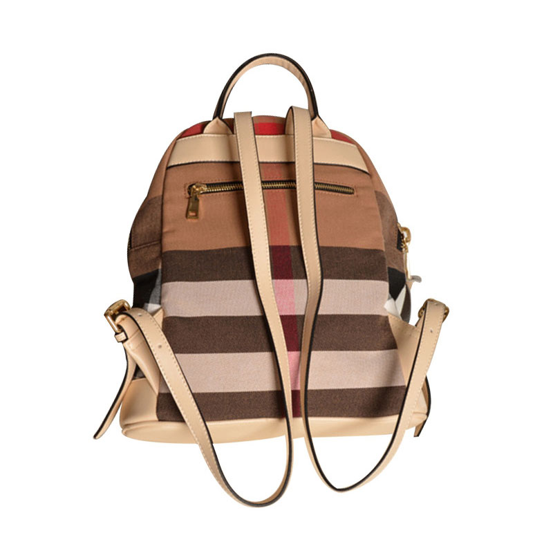 ecd4748396 AMONCHY Famous Brand Women Plaid Backpacks Classical Designer Canvas Female  Backpack Colorful Striped Large College Backpacks-in Backpacks from Luggage  ...