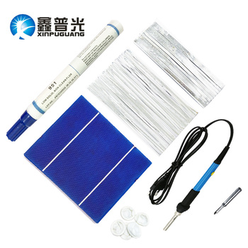 56 PCS polycrystalline 200W Solar Cells Solar Panels DIY Energy Production Tool Material PV Bus/Tabbing Tab Wire Electric Iron