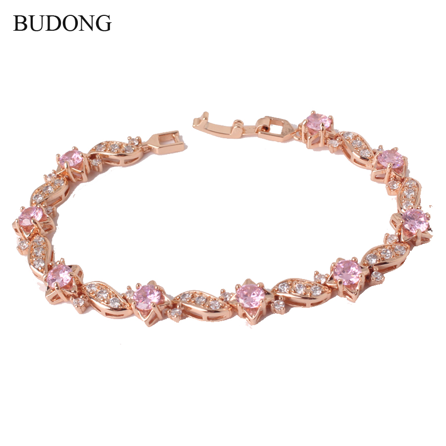 BUDONG 18cm Fashion Hand font b Bracelets b font for font b Women b font Gold