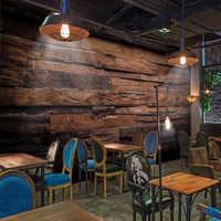 Papel pintado personalizado Murales Pared grande pintura Retro nostálgico madera paneles madera grano pared Mural De pared papel tapiz 3D para paredes