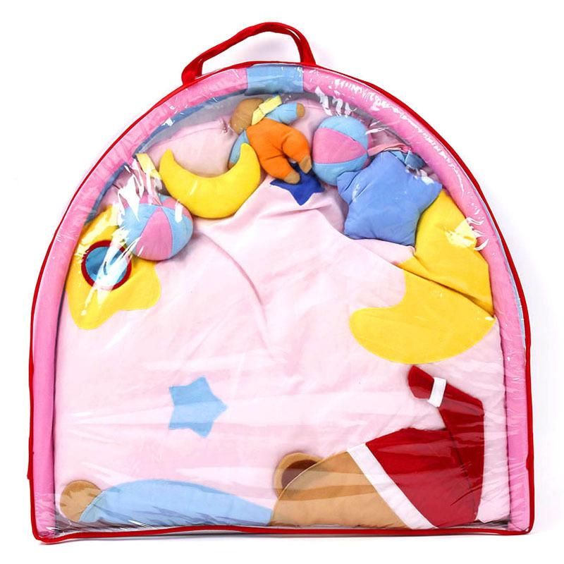 Fun Cartoon Sleeping Bear Soft Baby Play Mat Toy Kids Toddler Musical Gym Activity Play Blanket Baby Indoor Crawling Pads 5