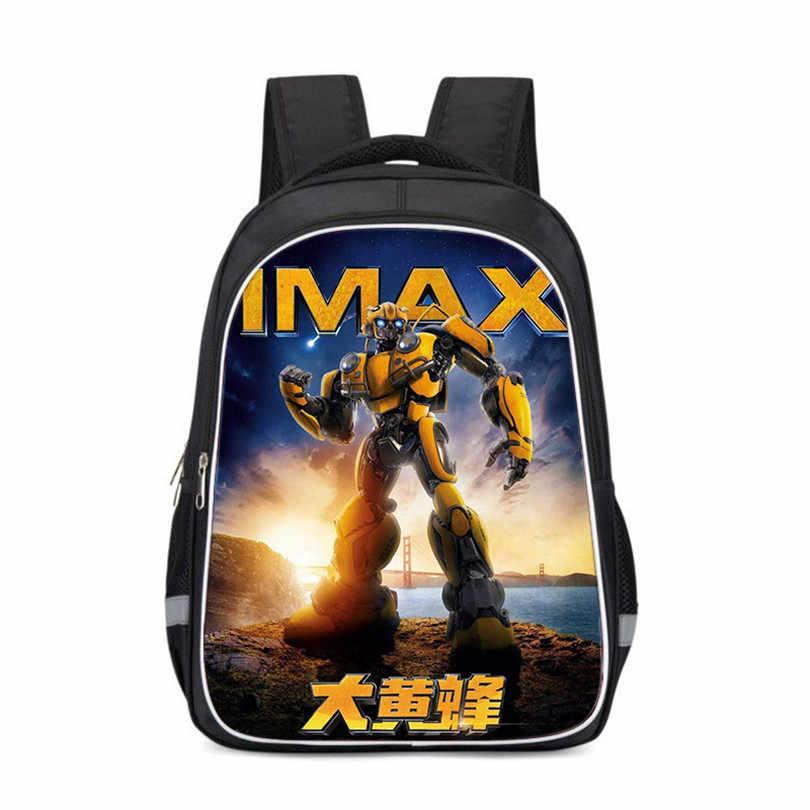 Transformers 2019 Cartoon Anime Children Waterproof Backpack Kids Bag Children Schoolbag Shoulder  Toddler Backpack Schoolbags