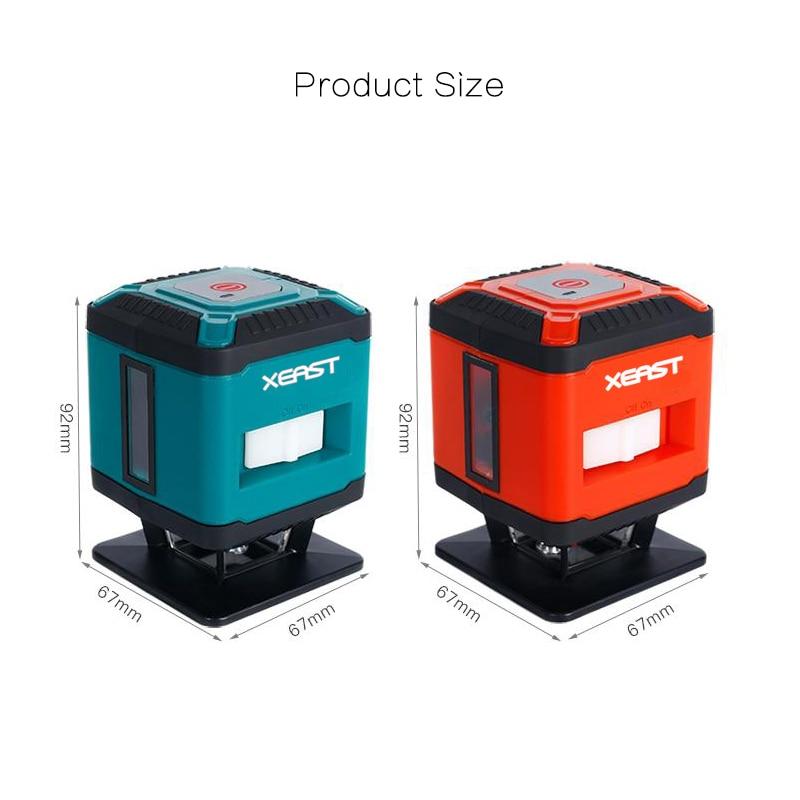 XEAST 306RG Mini Tragbare 5 Linien 4H1V Selbst Nivellierung 360 Grad linie boden Laser Ebene fliesen laser ebene