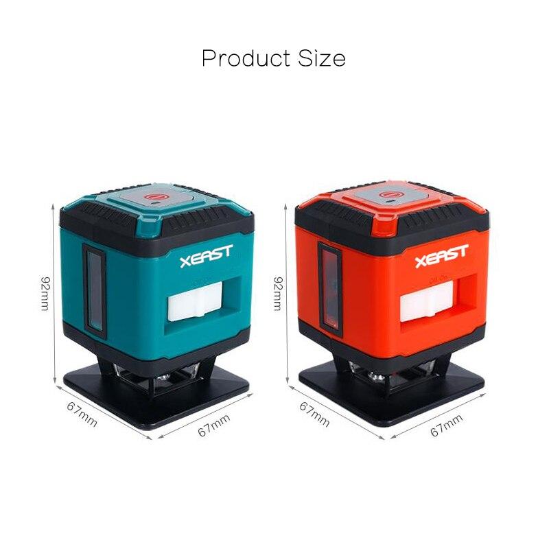 XEAST Mini Portatile 5 Linee 4H1V Self-Leveling 360 Gradi Laser a Livello di linea di pavimento di piastrelle di livello del laser
