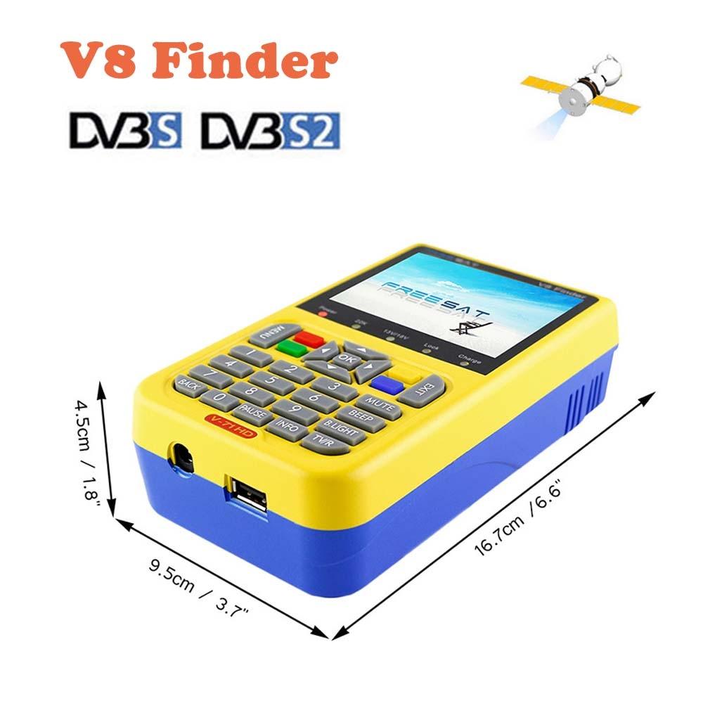 V8 Finder DVB-S/S2 FTA HD Digital v8 Satellite Finder MPEG-4 3.5 Inch LCD Display DVB S2 SatFinder PK Satlink WS 6916 satlink ws 6979se dvb s2 dvb t2 mpeg4 hd combo spectrum satellite meter finder satlink ws6979se meter pk ws 6979