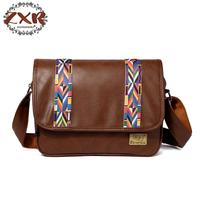 New Arrival Vintage Men's Handbag Fashion Business Pu Leather Men Promotional Crossbody Shoulder Bag Casual Man Bag