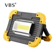 LED عاكس 20 واط USB شحن الكاشف LED الأضواء DC5V 18650 بطارية قابلة للشحن بالطاقة المحمولة مصباح Led كاشف التخييم