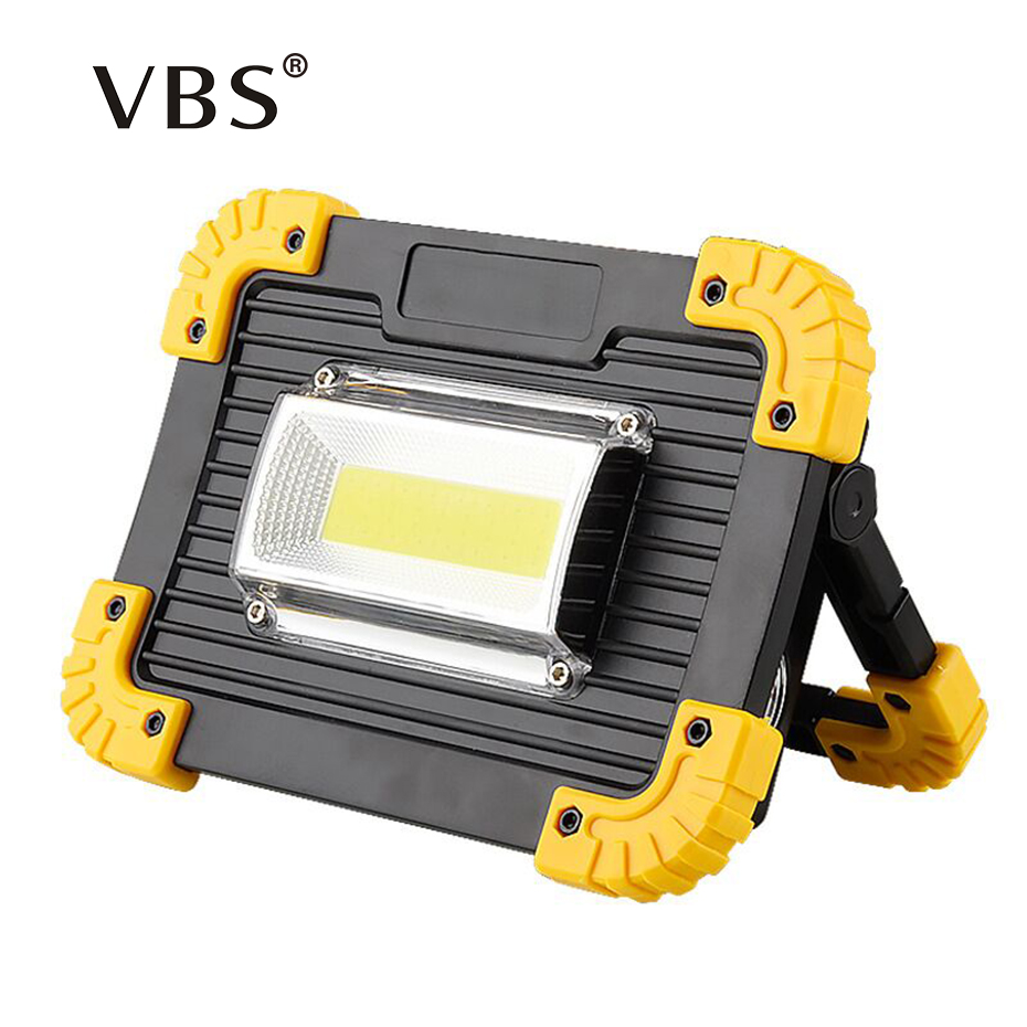 LED Reflector 20w USB charging Floodlight LED Spotlight DC5V 18650 Rechargeable Battery Powered Portable Led searchlight camping