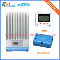 60A 12V/24V/36v/48v MPPT battery charge controller Regulator with white MT50 and wifi box IT6415ND