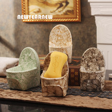 NEWYEARNEW European Ceramics Soap Box Creative Toilet shape Hotel Soap Dish Handmade Storage Home Furnishing Decoration