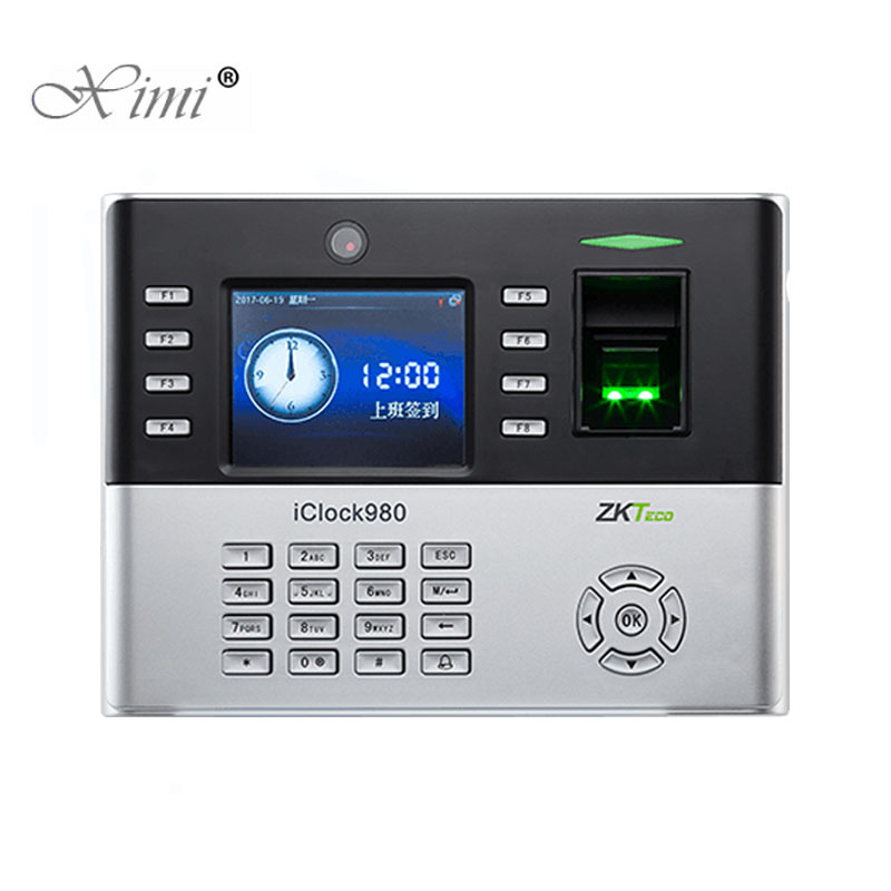 New Arrival iClock980 Biometric Fingerprint Time Attendance System And Access Control With Camera ZK Fingerprint Time RecorderNew Arrival iClock980 Biometric Fingerprint Time Attendance System And Access Control With Camera ZK Fingerprint Time Recorder